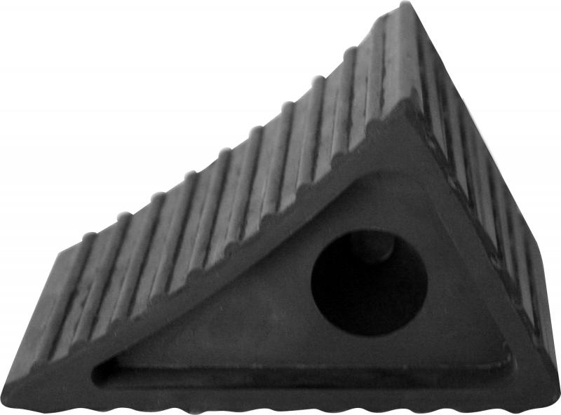 Упор противооткатный, резиновый, 120х80х70 мм