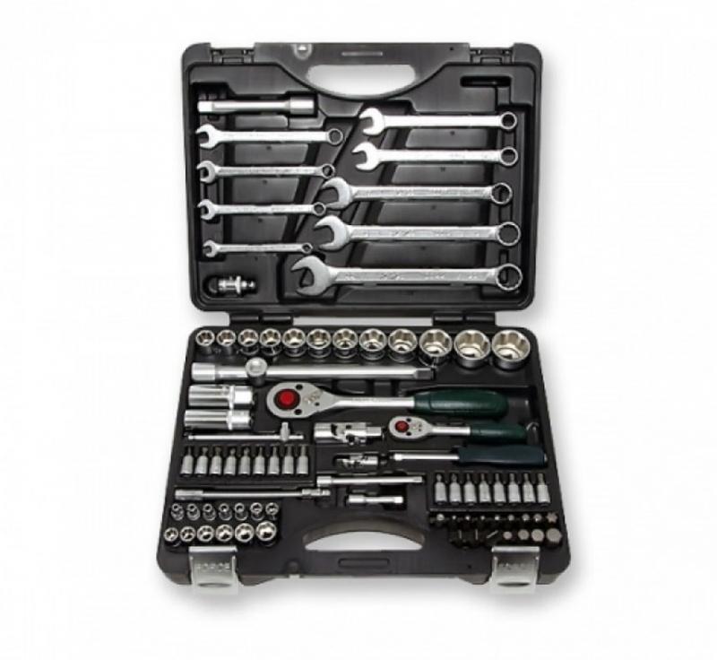 Force Набор инструмента головки и ключи (чемодан) 82 пр. № 4821-9 12-ти гран.
