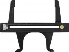 Приспособление для измерения размеров барабанов и диаметра установленных колодок барабанных тормозов 165-362 мм.