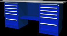 Верстак с двумя тумбами — две тумбы с 6 ящиками, 1900х686х845 мм