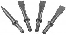 Комплект коротких зубил для пневматического молотка (JAH-6833H), 4 предмета