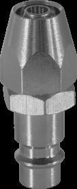 """Штуцер для быстросъемных соединений, тип """"ЕВРО"""", с установочной частью для шлангов 6.5х10 мм"""