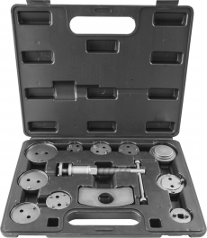 Приспособление для возврата поршней цилиндров дисковых тормозов в наборе, 12 предметов
