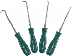 Набор крючков для демонтажа уплотнительных колец (мини), 4 предмета