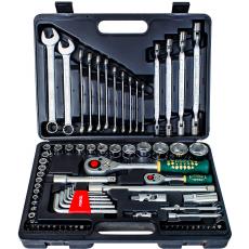Force Набор инструмента головки и ключи (чемодан) 77 предметов № 4772