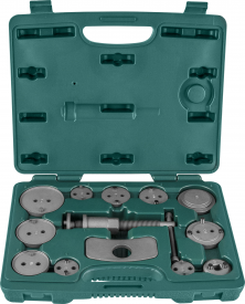 Комплект инструмента для возврата поршней тормозных цилиндров дисковых тормозов 13 предметов