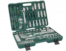 """Универсальный набор торцевых головок 1/4""""DR 4-13 мм и 1/2""""DR 8-32 мм, отверток и угловых ключей 1,5-10 мм, 83 предмета"""