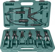 Набор щипцов для демонтажа пружинных хомутов патрубков, 9 предметов