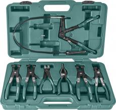 Набор щипцов для демонтажа пружинных хомутов патрубков, 7 предметов